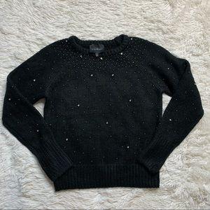 John Richmond Dazzled Black Sweater